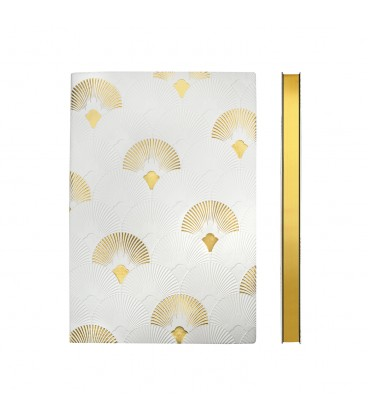 Signature Art Deco A5 Dotted Notebook - Fanfare