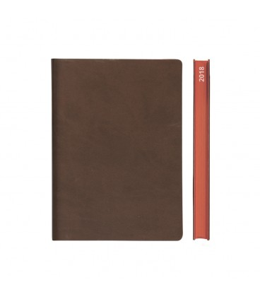 2018 Signature A5 Diary - Brown