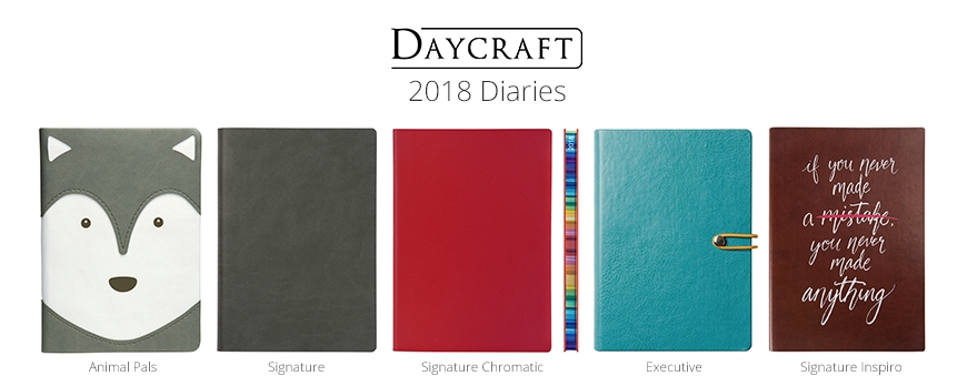 2018 Diaries Now In Stock