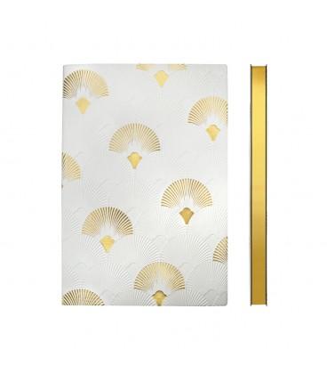 Signature Art Deco A5 Dotted Notebook - Fanfare
